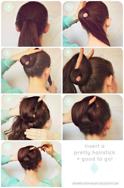 Grow Beyond Your Limits Flechtwerk The Chameleon Bun Hairstick Hairstyles Long Hair Styles Chopstick Hair