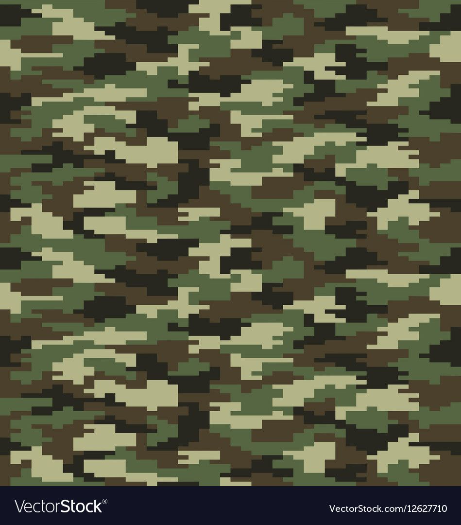 Digital Pattern Of Fashion Camouflage Seamless Illustration