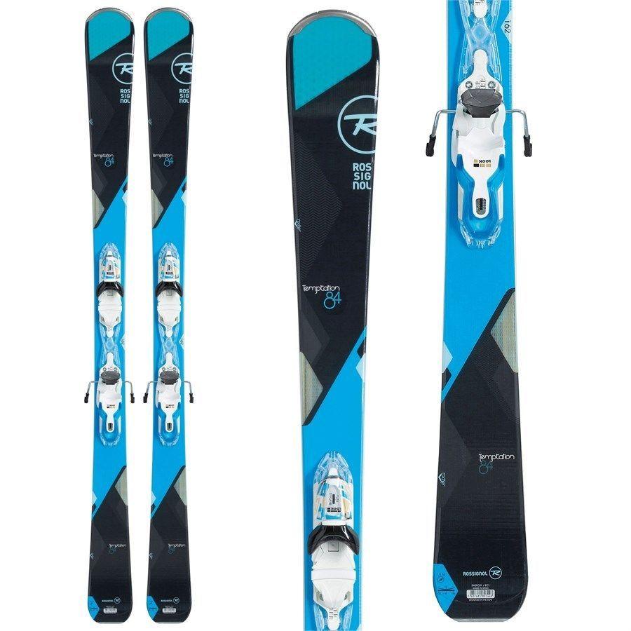 Rossignol Temptation 84 Women's 146cm Ski W/ LOOK Xpress