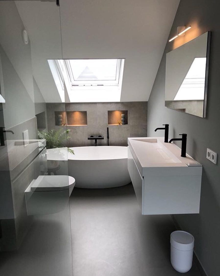 "Paola Scaccianoce Architect on Instagram: ""Bathroom in loft conversion. .••• Design Ideas •••. Architectural services in Bristol:"