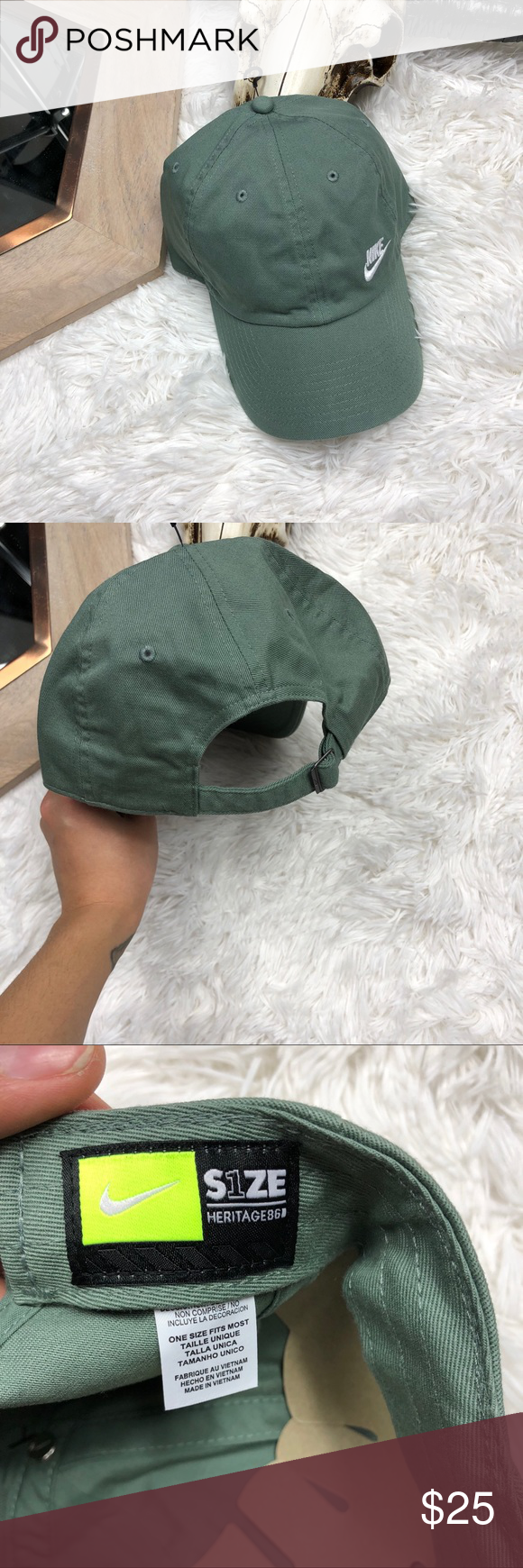 072f6db59 Nike Dad Hat Brand new Clay Green Color Nike Accessories Hats | My ...