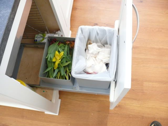 Stages Sink With Garbage Drawer / Short Compost Bin To Go Under Plumbing