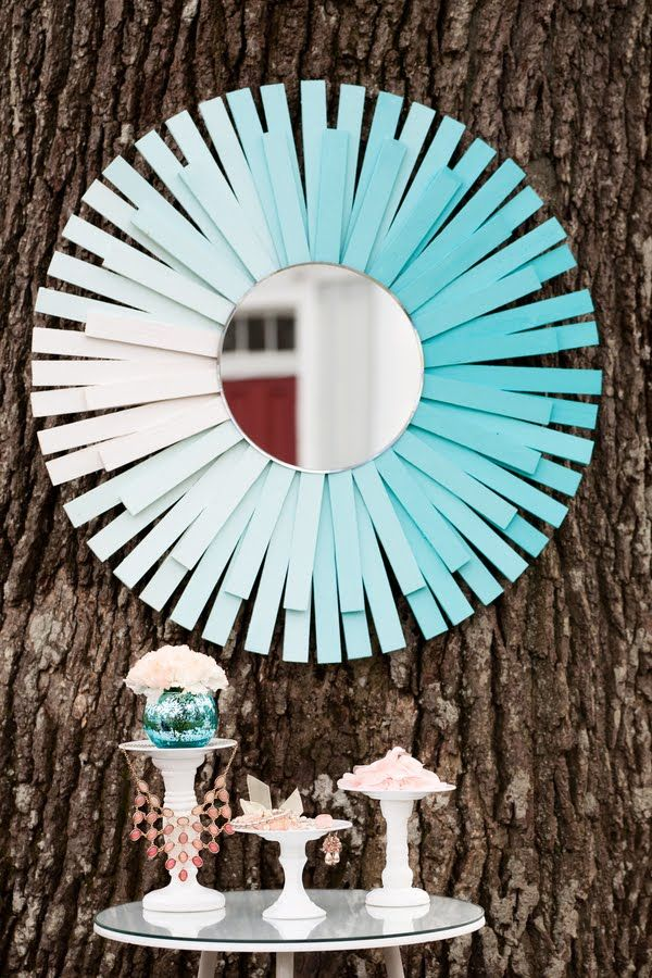 do this with popsicle sticks | Sunburst mirror, Diy mirror
