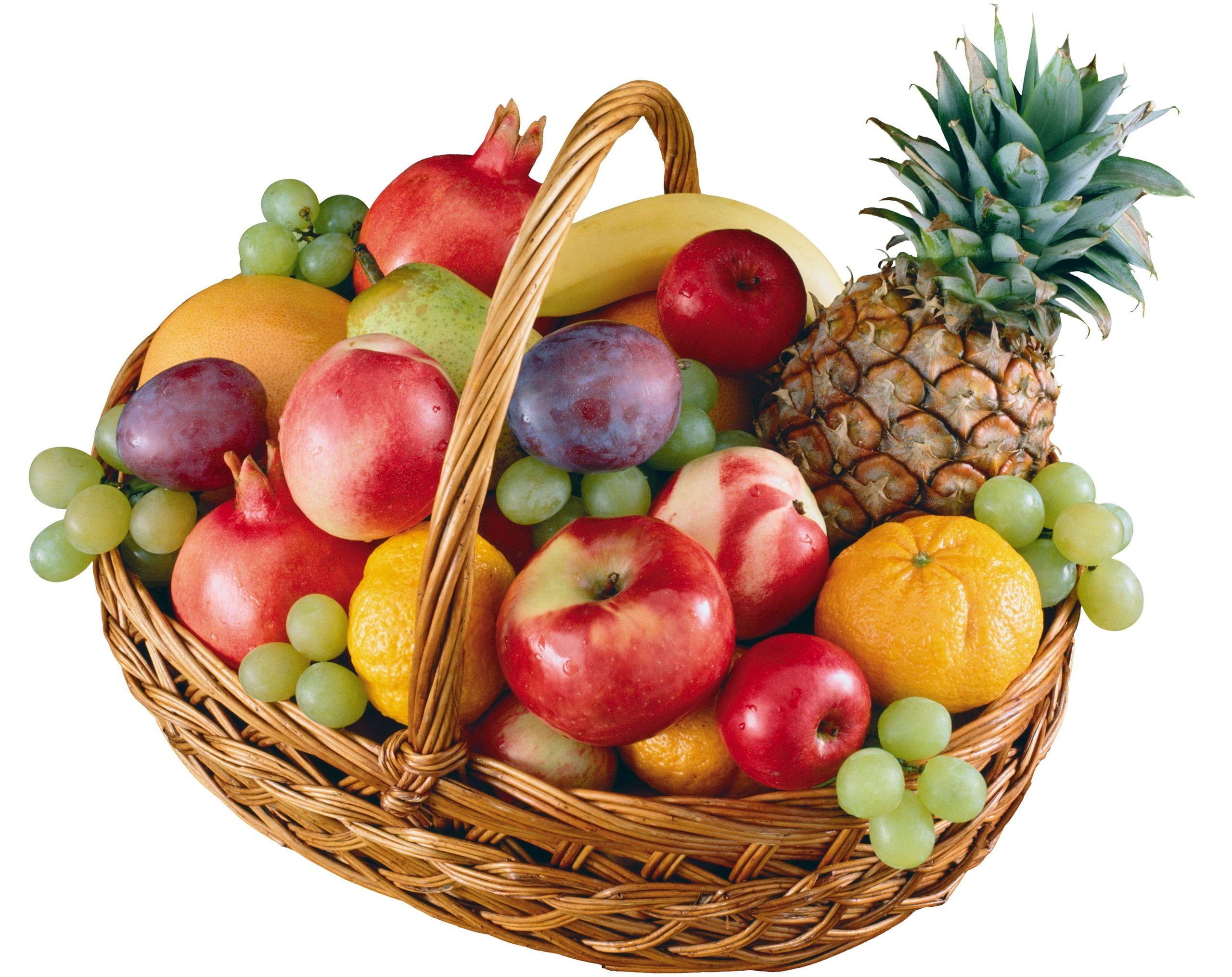 Assorted Fruits In Basket Illustration Fruit Basket A Lot Of 2k Wallpaper Hdwallpaper Desktop Healthy Fruits Fruit Fruit Basket