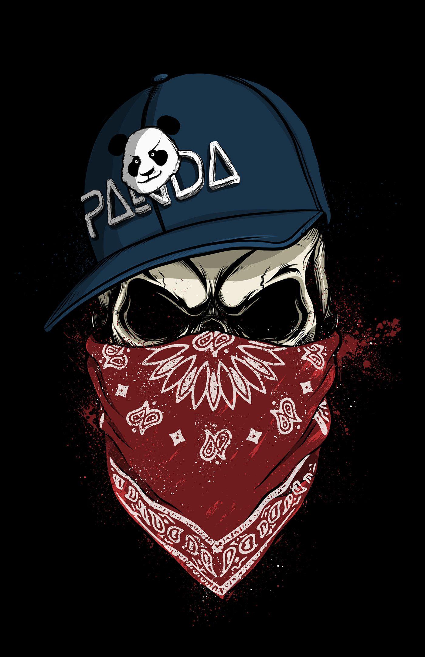 1400x2164 Skull Panda On Behance Zombie Wallpapergraffiti