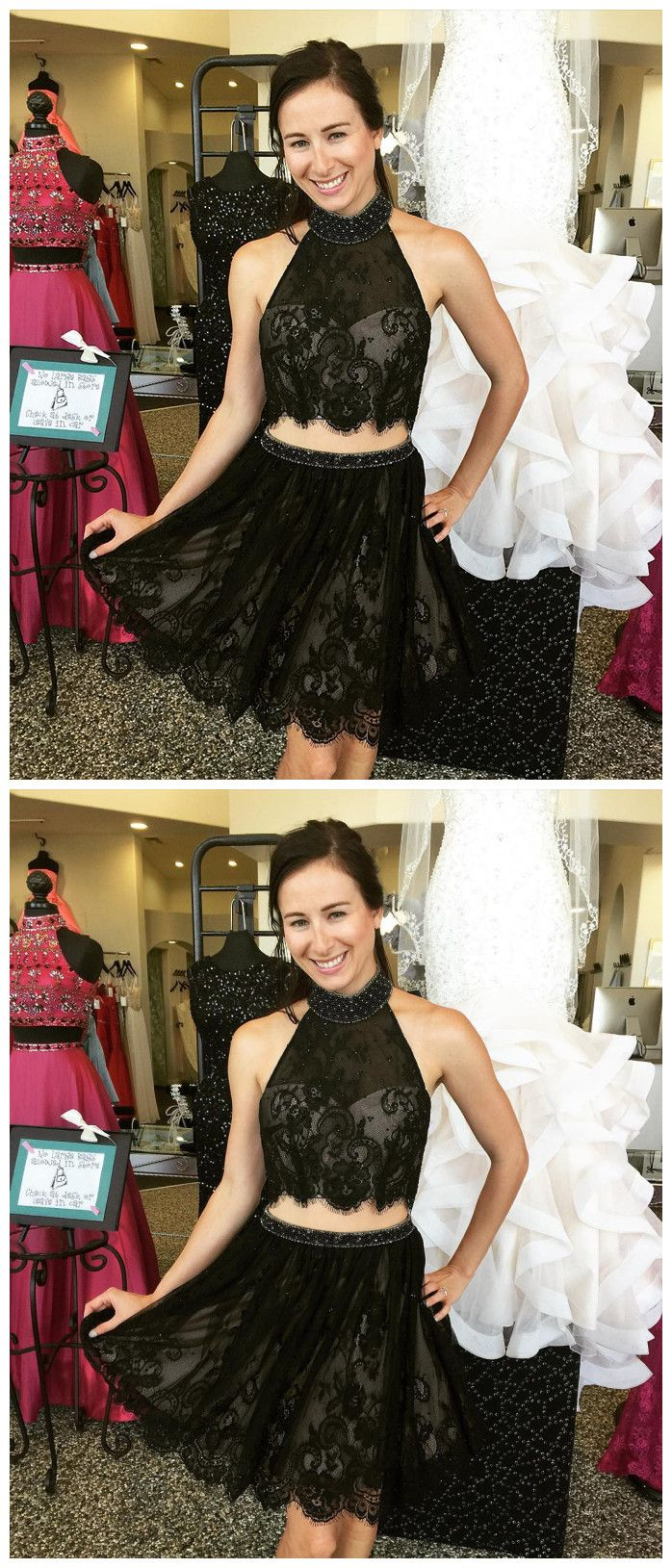Homecoming dresscocktail dresshomecoming dressesblack lace two