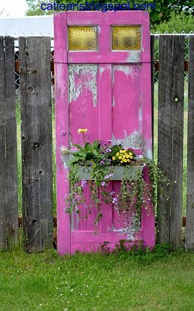 Reusing old doors, simply gorgeous!!