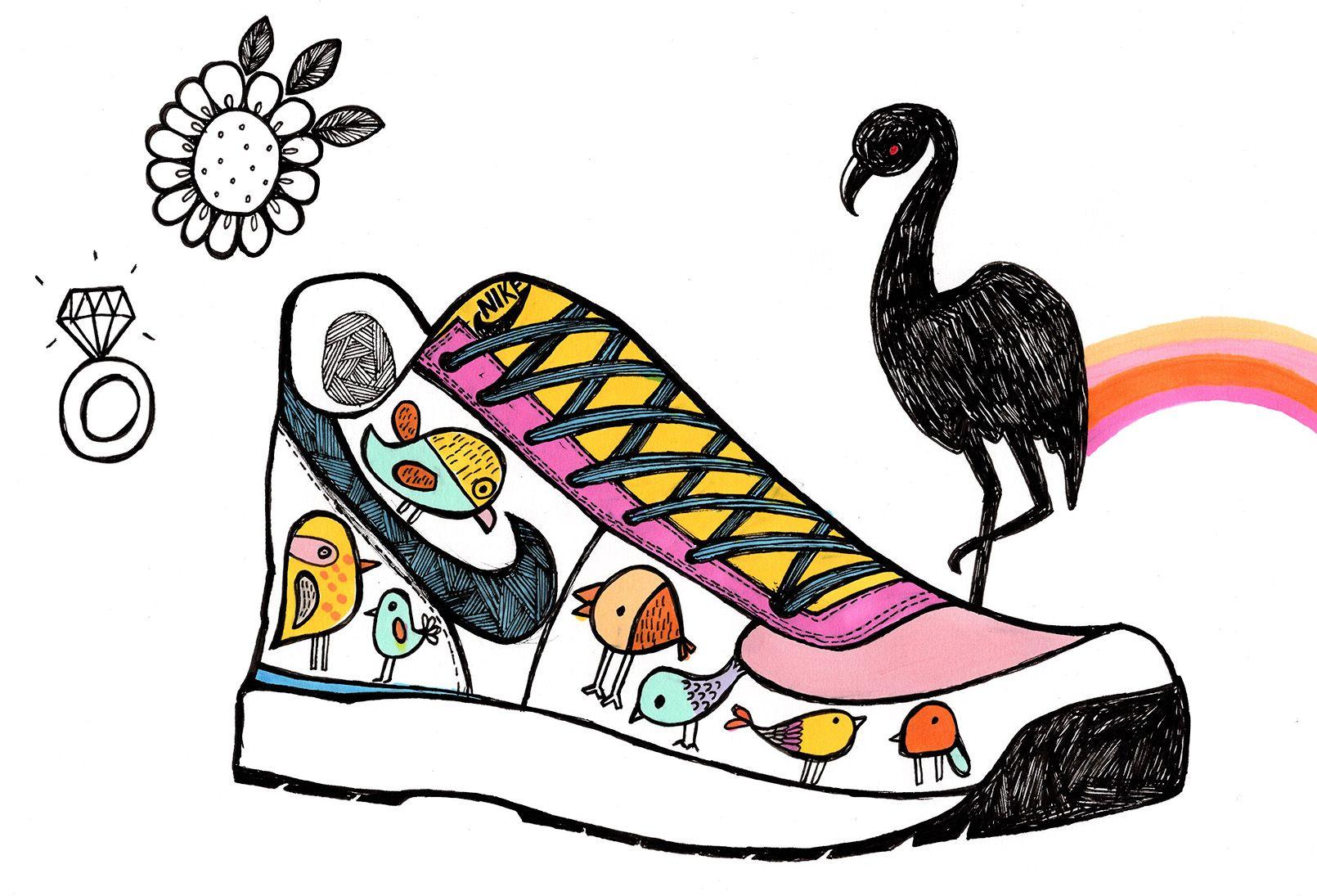 #illustration #doodlesofinstagram #doodle #nike #trainer #shoe #inktober2go  #ink