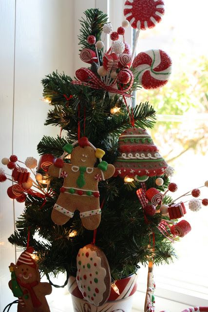 Sunny Simple Life Tour Of My Christmas Kitchen Kitchen Christmas Tree Gingerbread Christmas Tree