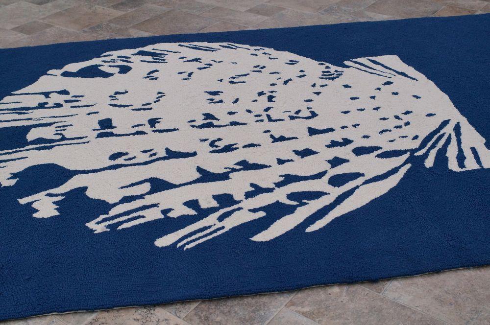 Rugs Usa Hacienda Sea Shell Outdoor Blue Rug Outdoor Rugs Outdoor Summer Beach Cool Blue Sand Ocean Warm Home Decor Interior Rugs Area Rugs Rugs Usa