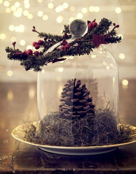 No Natal, uma simples pinha se transforma no centro das atenções | christmas decor