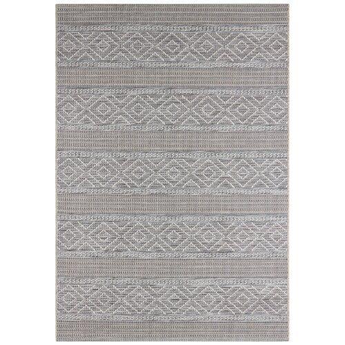 Rhone Flatweave Grey Indoor Outdoor Rug Elle Decor Size Rectangle