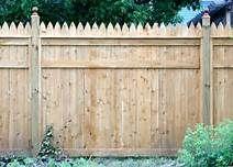 Stockade Fence Option Rails And Trim To Dress Up Plain Panels Fence Design Stockade Fence Backyard Patio