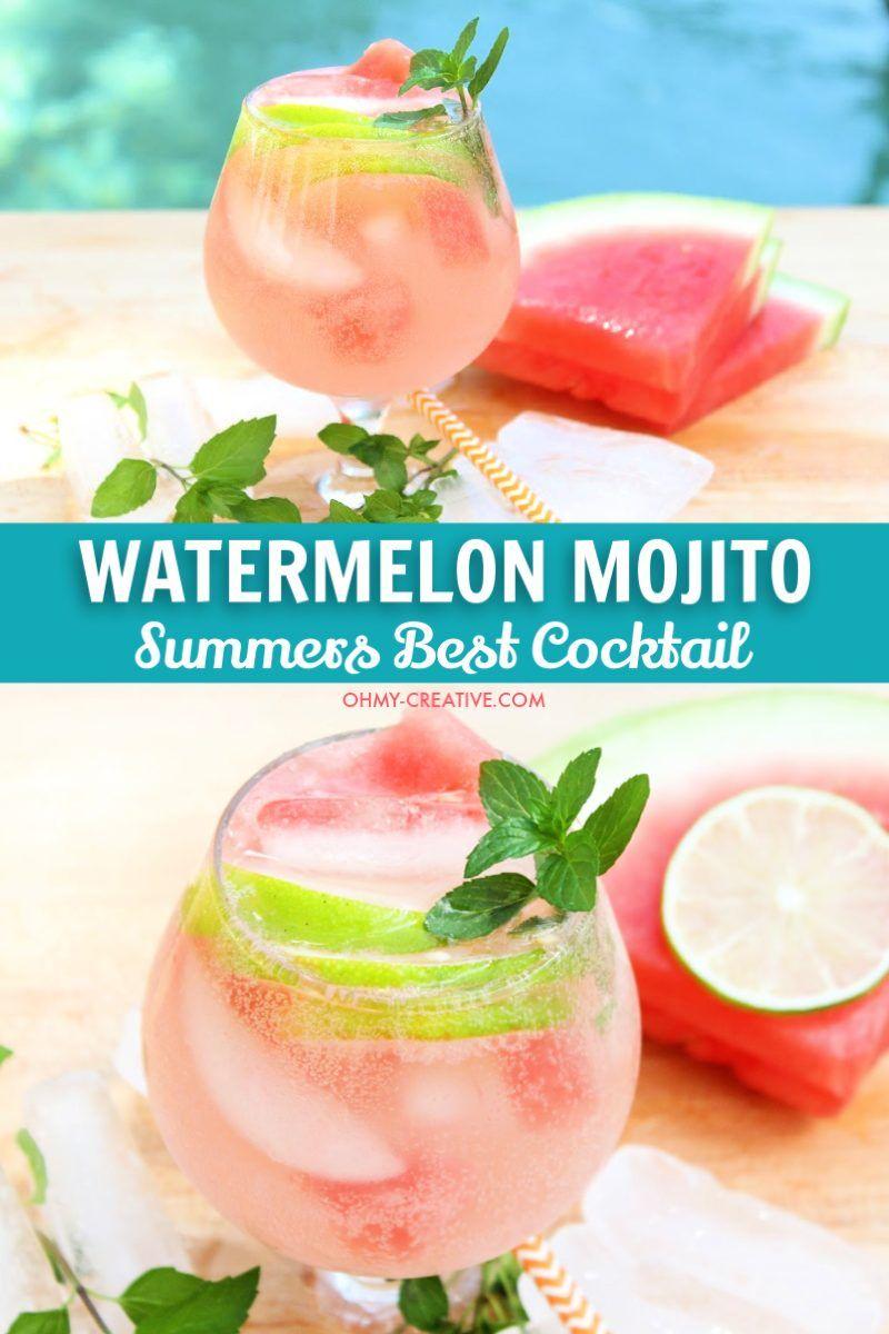 Delicious Watermelon Mojito Recipe Oh My Creative Recipe Watermelon Mojito Recipe Watermelon Mojito Mojito Recipe