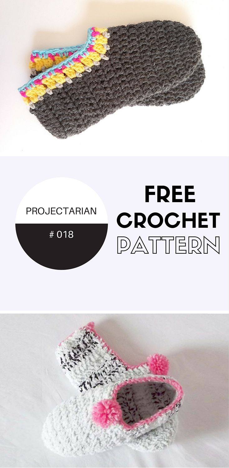 PROJECT #018: CROCHET SLIPPERS FOR ADULTS | Pinterest | Kinderschuhe ...