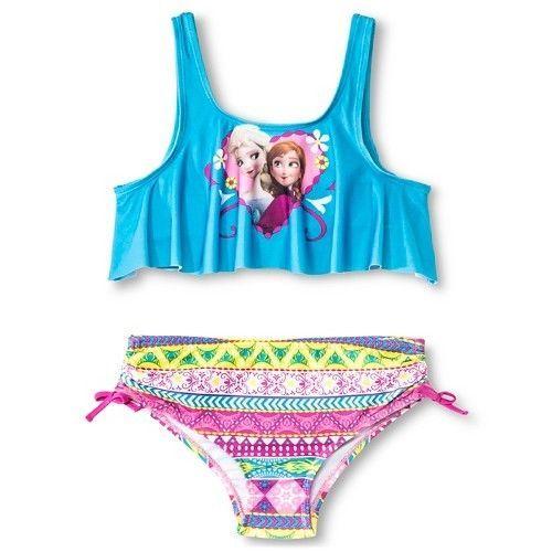 NEW Frozen GIRLS KIDS SWIMWEAR SWIM SUIT SWIMMING BATHERS swimsuit 2pc bikini