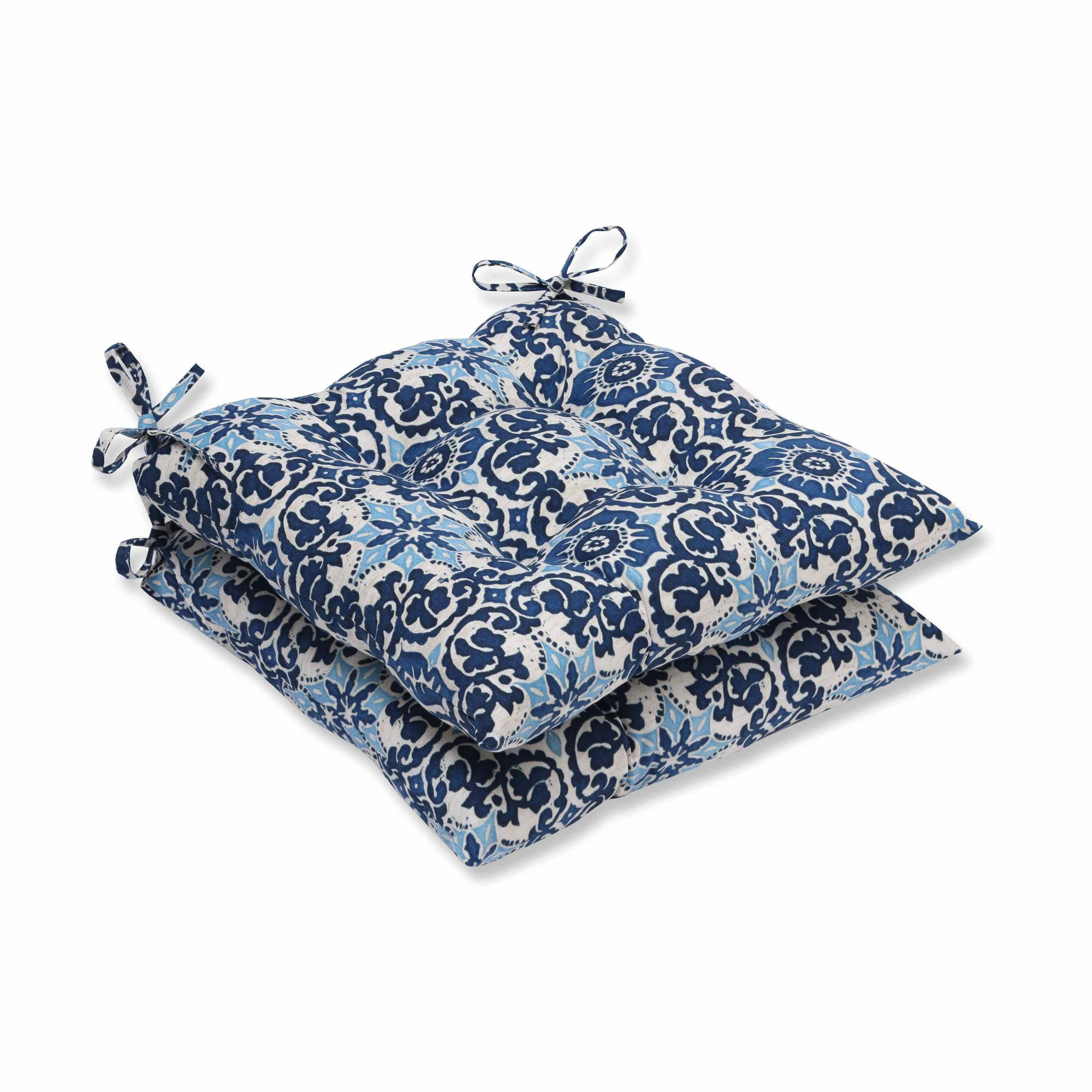 Pillow perfect outdoor indoor woodblock prism blue wrought iron