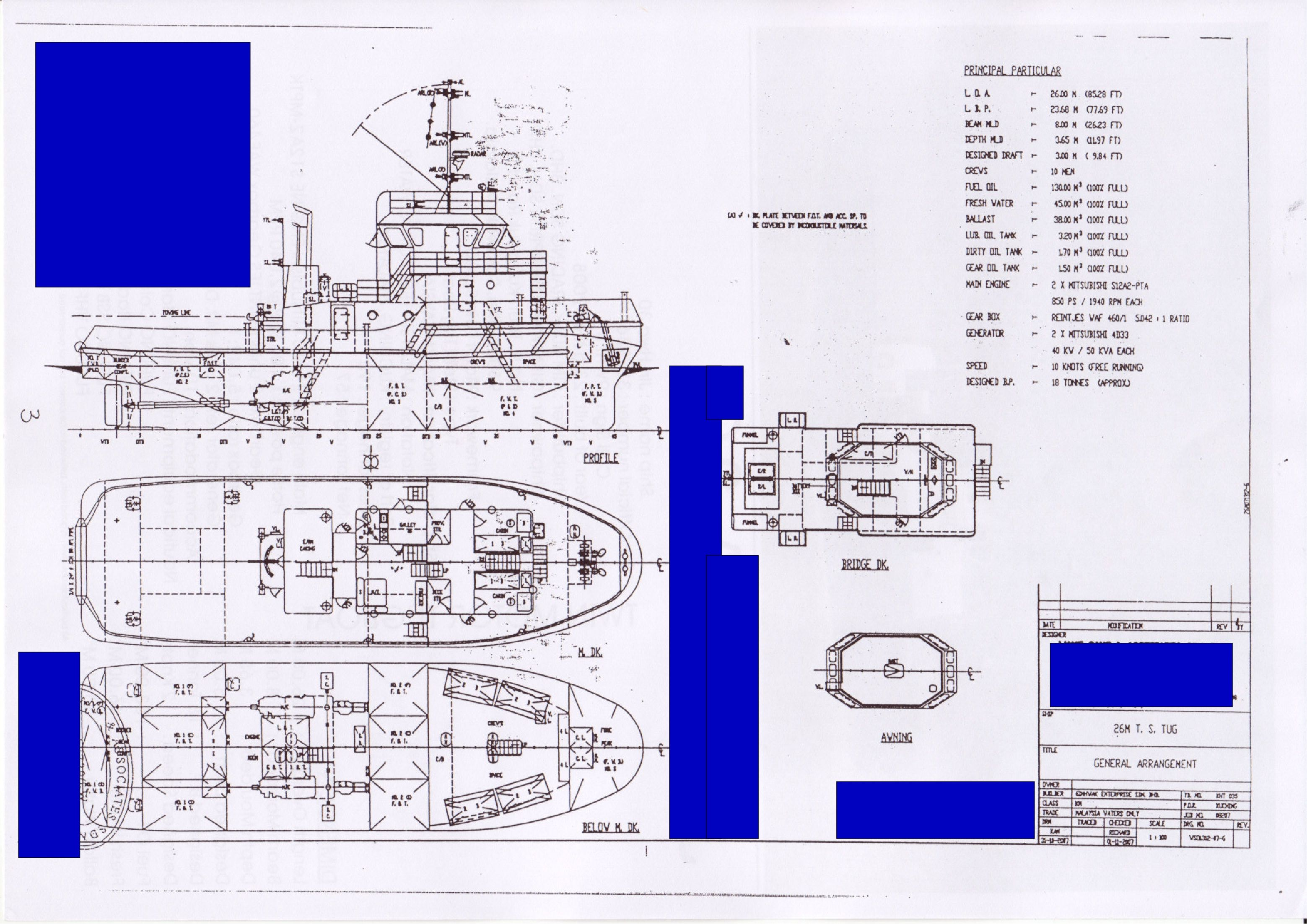 medium resolution of from direct shipyard seller for sale below 26m tugboat 2200hp mitsubishi engine