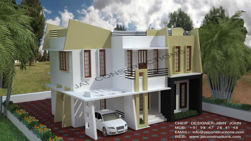 Contemporary Model House Plans Jai Constructions Model House