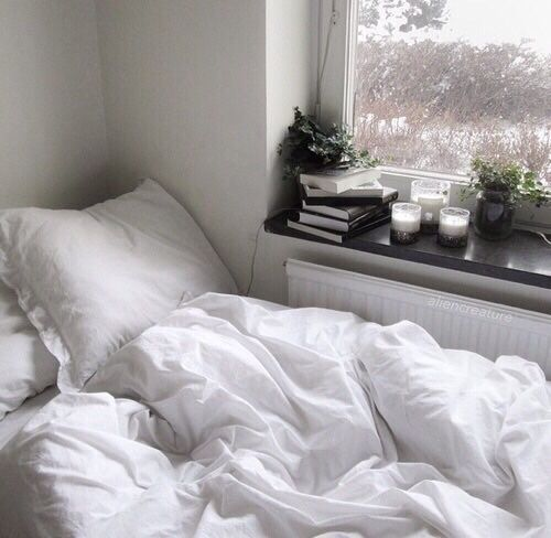 Bed  white  and room imageTell me more and stuff   aesthetic   Pinterest   Bed room  . All White Room Tumblr. Home Design Ideas