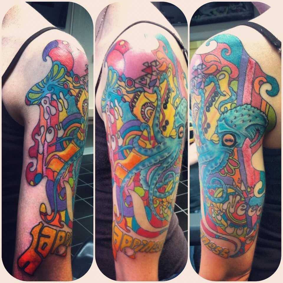 beatles tattoo another view of my recent progress on my half sleeve artist ryan green of. Black Bedroom Furniture Sets. Home Design Ideas