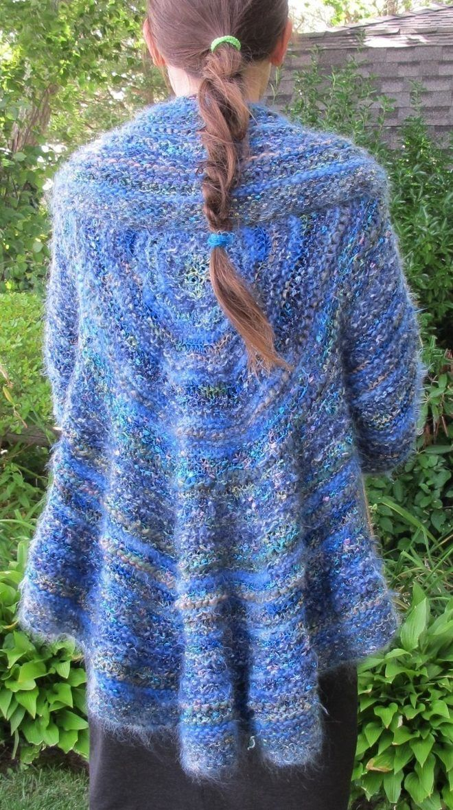 Knitting Pattern for Stashbuster Circle Swing Jacket - A ...