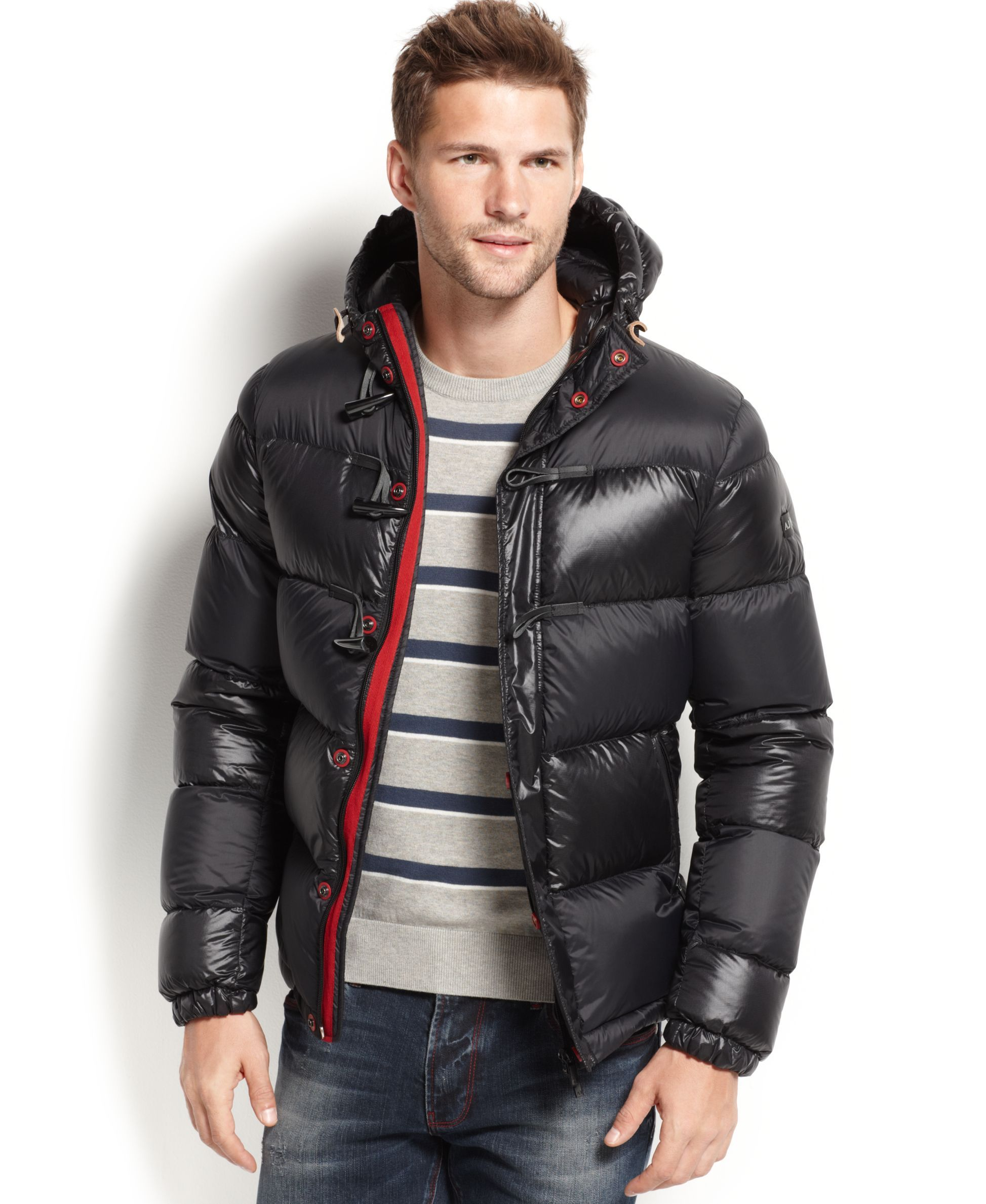 Armani Jeans Puffer Jacket Winter jacket outfits, Black