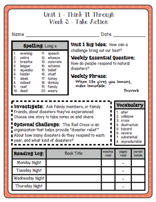 McGraw Hill Wonders - 4th Grade (Unit 1) Weekly Spelling, Vocab, and ...