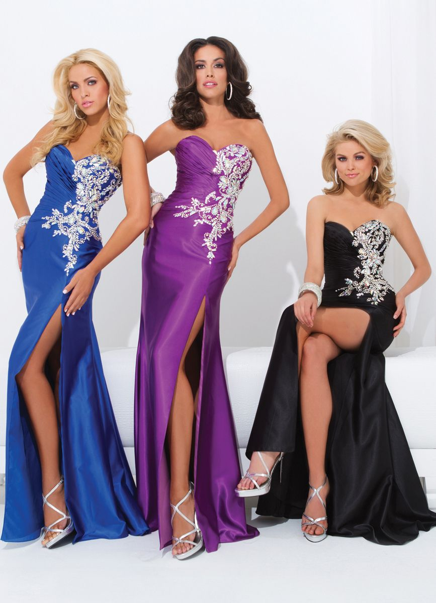Tony bowls beaded gown royal blue evening dresses and bowls