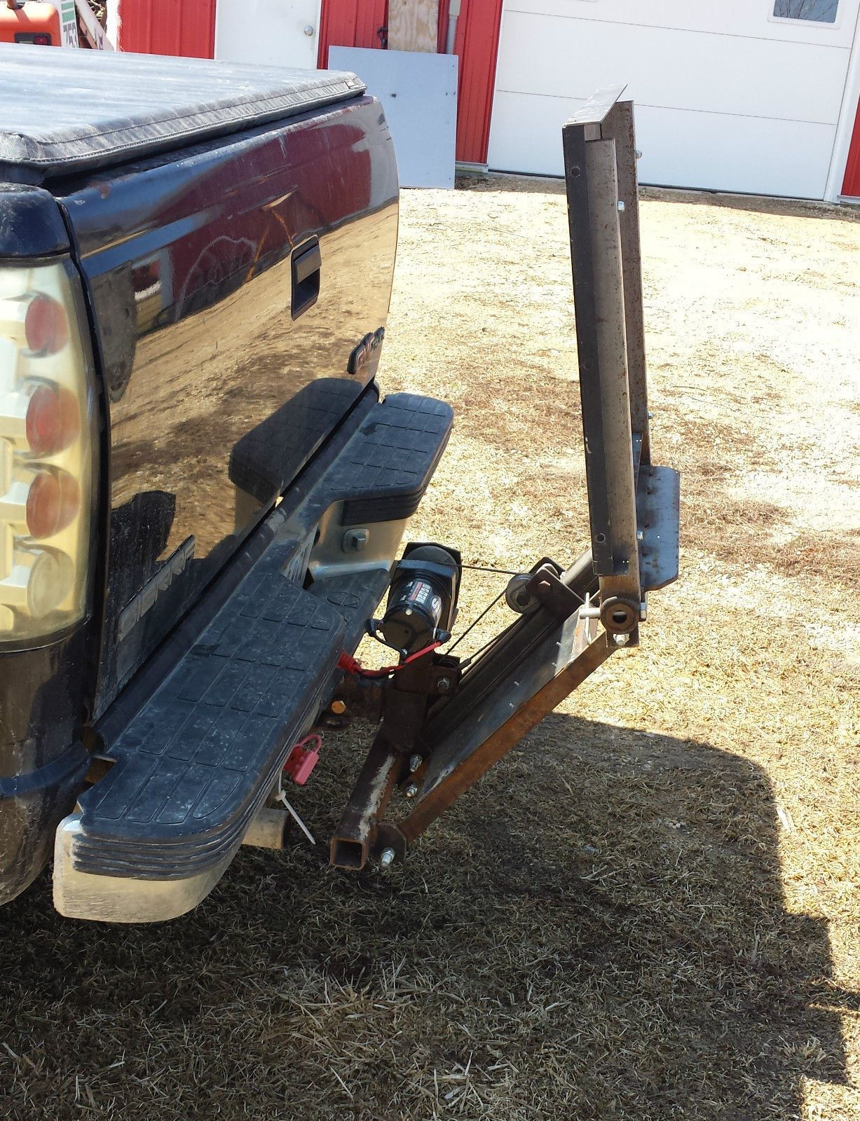 Hitch lift plans build for low $ back saver cargo tailgate lift gate