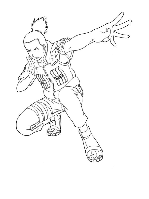 Shikamaru Ready To Fight   Naruto sketch, Naruto drawings ...