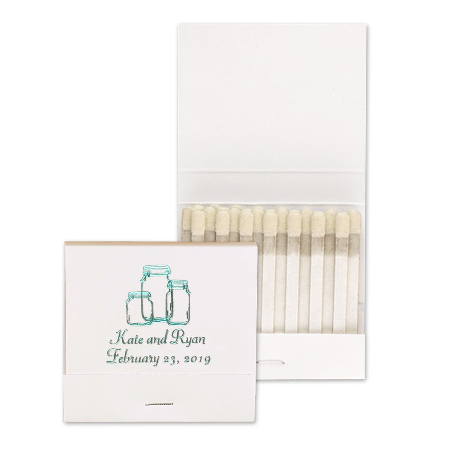 Personalized Wedding Matches - http://bustlingbride.carlsoncraft.com ...