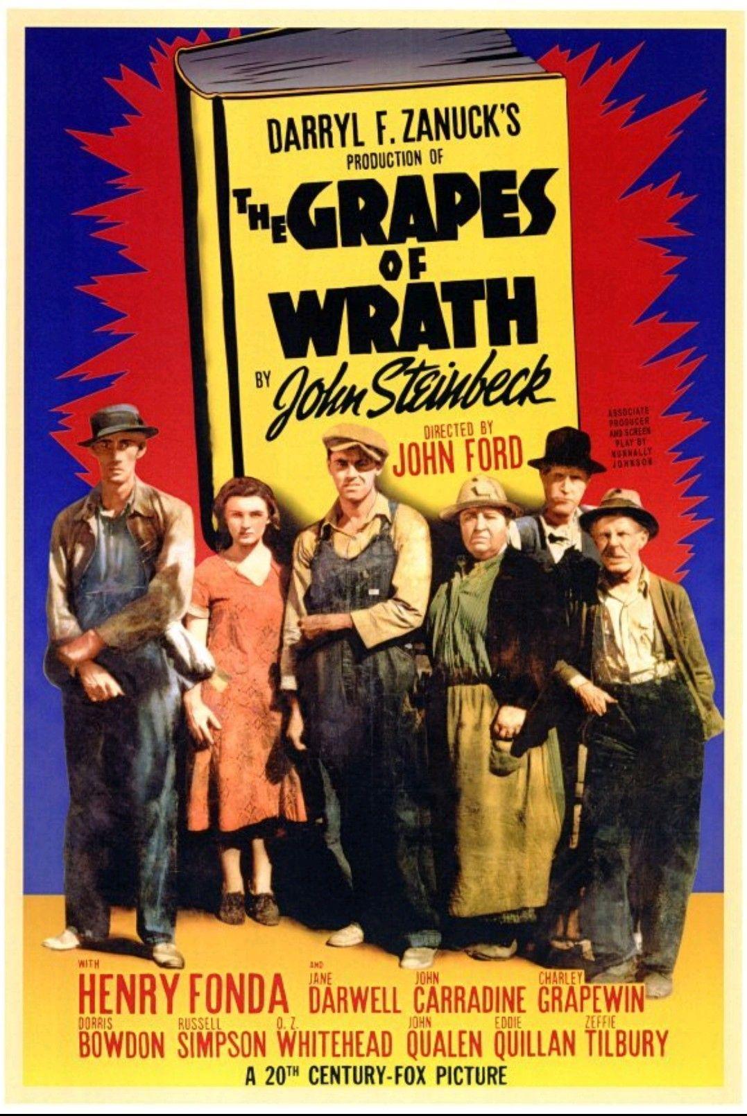 The Grapes Of Wrath 1940 Carteles De Peliculas Carteles De