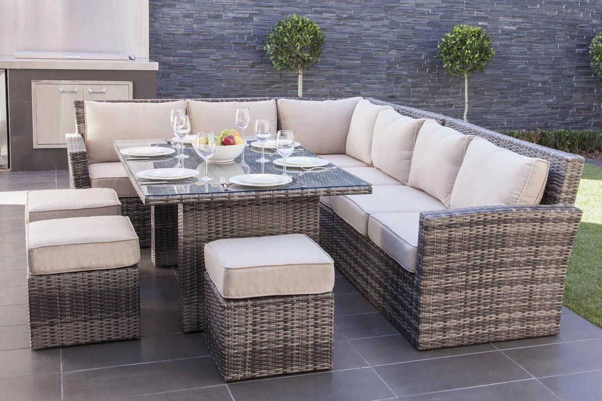 Dengler 8 Piece Sectional Set With Cushions 1699 Poolfurniture