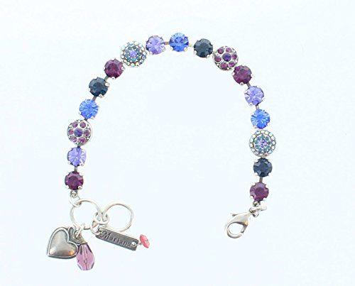 Mariana Jewelry, Mariana Bracelet, Silver Bracelet, Deep Purple, Tanzanite, Royal Blue and Montana Blue Stones Swarovski Crystals. Gemstone & Crystal Bracelet with Multi Color Crystals. Hand Cut Gem Stones with Crystals, Fabric Beads And/or Swarovski Crystals. MAR001 http://www.amazon.com/dp/B00P1K6Q8O/ref=cm_sw_r_pi_dp_uJOPvb13HM88Y