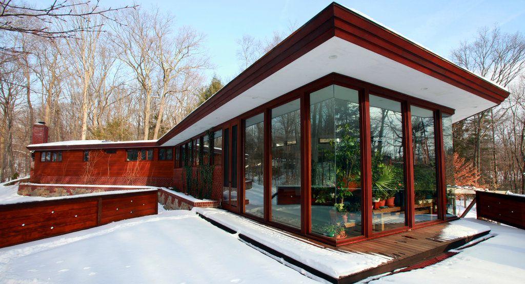 House tour pleasantville n y frank lloyd wright and for Frank lloyd wright modular homes