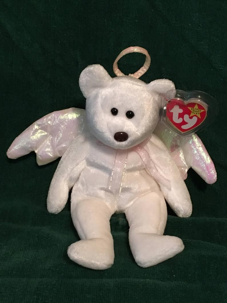 Halo Beanie Bear Value : beanie, value, Beanie, Angel, Pristine, Babies,, Babies, Value,, Prices