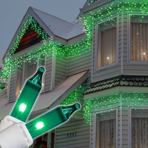 green icicle lights on white wire 150 green icicle lights white wire by wintergreen 1599