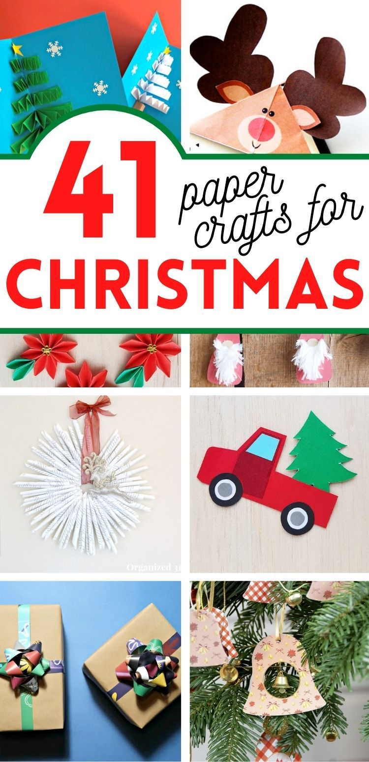 41 Best Christmas Paper Crafts | Marcie in Mommyland in 2020