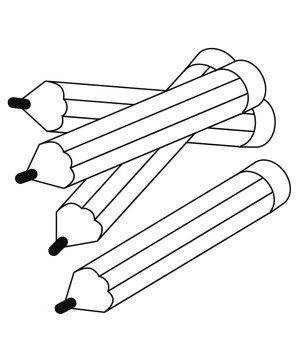 Four Colored Pencils in the Bucket Coloring Page - Free ...