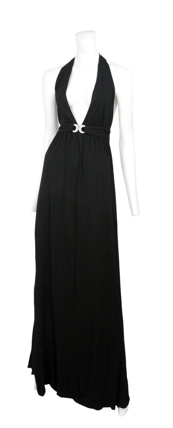 Vintage Yves Saint Laurent Black Jersey Gown Resurrection Vintage Ysl Vintage Fashion Fashion Couture