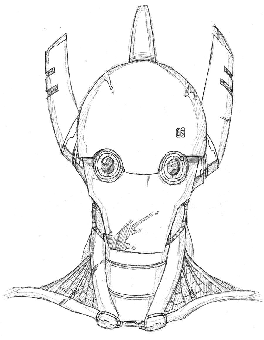Robot Head Drawing Google Search Robot Art Robots Drawing