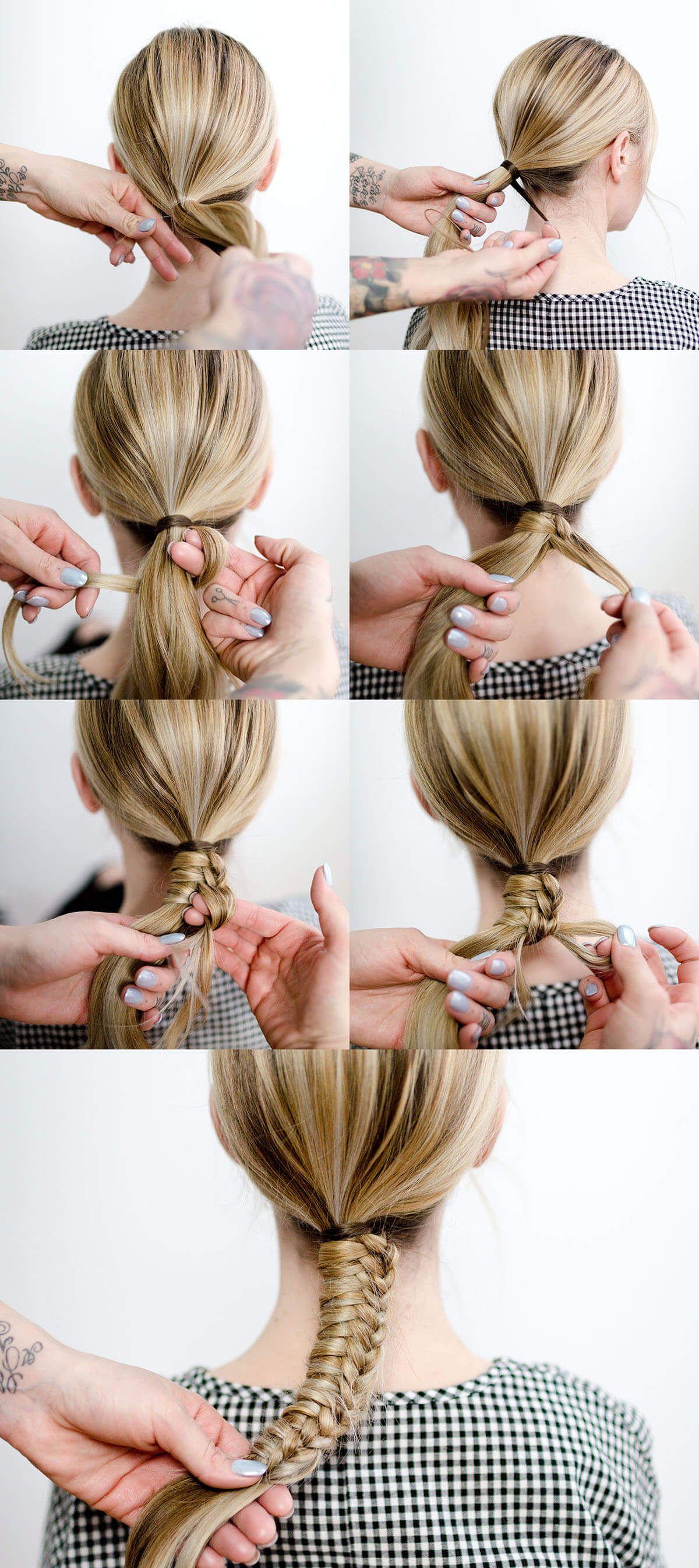 Easy Staircase Braid  Frisuren, Zopffrisuren, Haarschnitt ideen