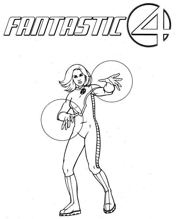 Dessin à colorier: Quatre Fantastiques (Super-héros) #8 - Coloriages ...