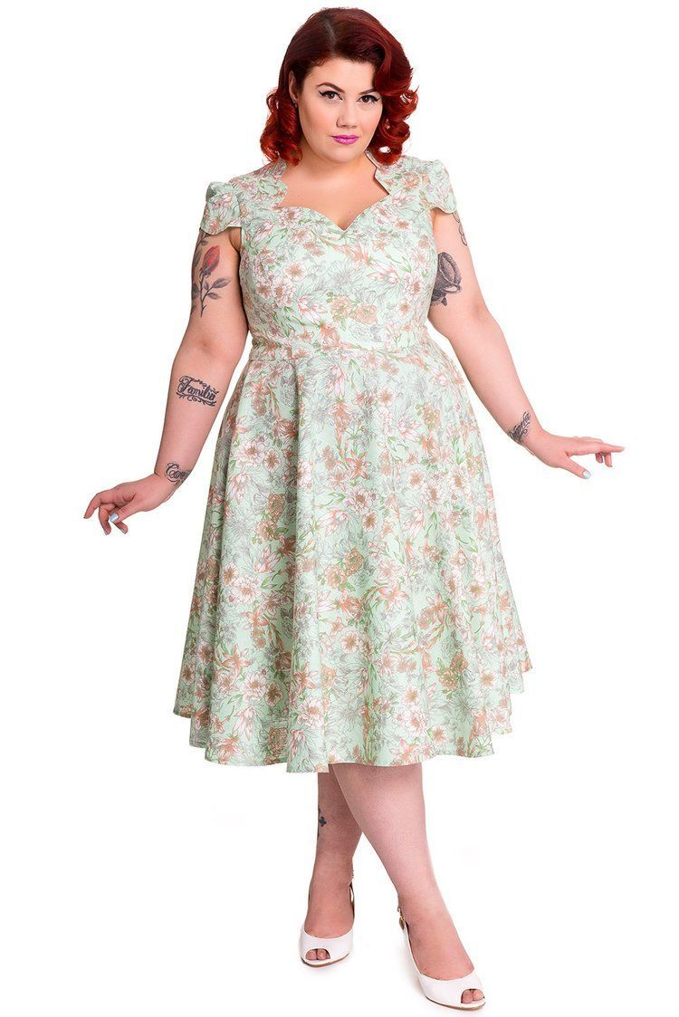 Skelapparel - 60\'s Victorian Cottage Flower Garden Mint Green Summer ...