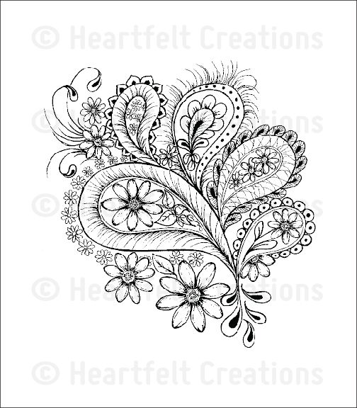 Peacock Paisley Cling Stamp Set: click to enlarge | Tattoo\'s | Pinterest