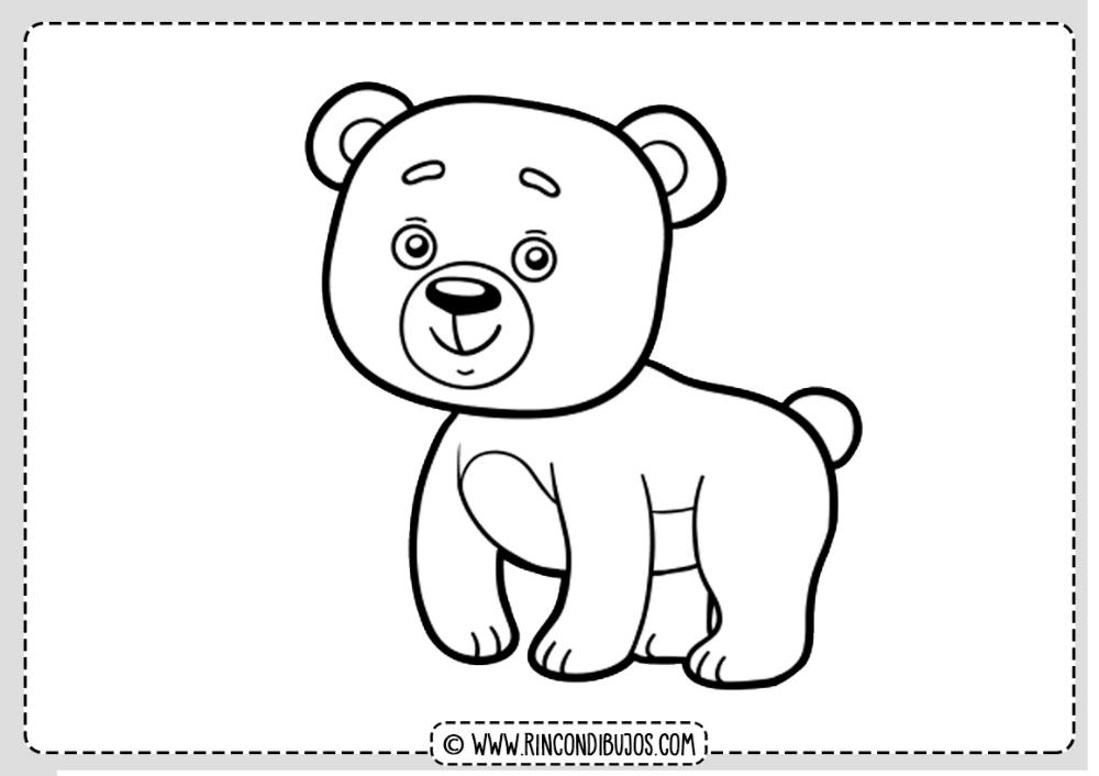 Dibujo De Oso Colorear Rincon Dibujos En 2020 Dibujos De Osos Oso Para Pintar Oso Animado