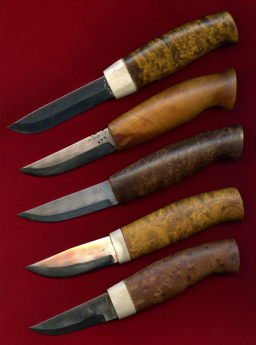 Hunting Knives Scandinavian Style By Borje Ahlstrom Sweden Nozhi Stal Rezba Po Derevu