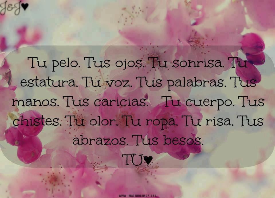TU (menos por los abrazos y besos). Frases De Amor ...