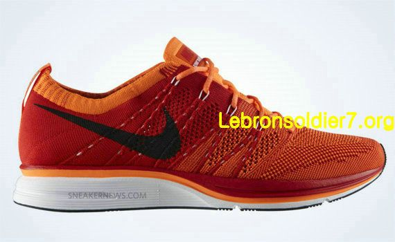 6c7d8820a46c nike flyknit trainer orange red